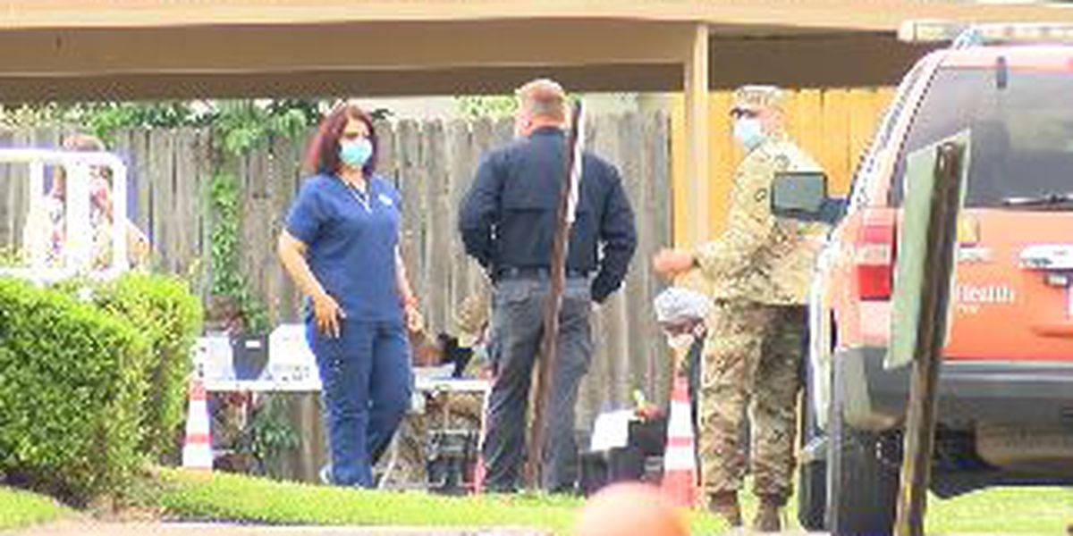 National Guard helps conduct COVID-19 testing at Tyler nursing home