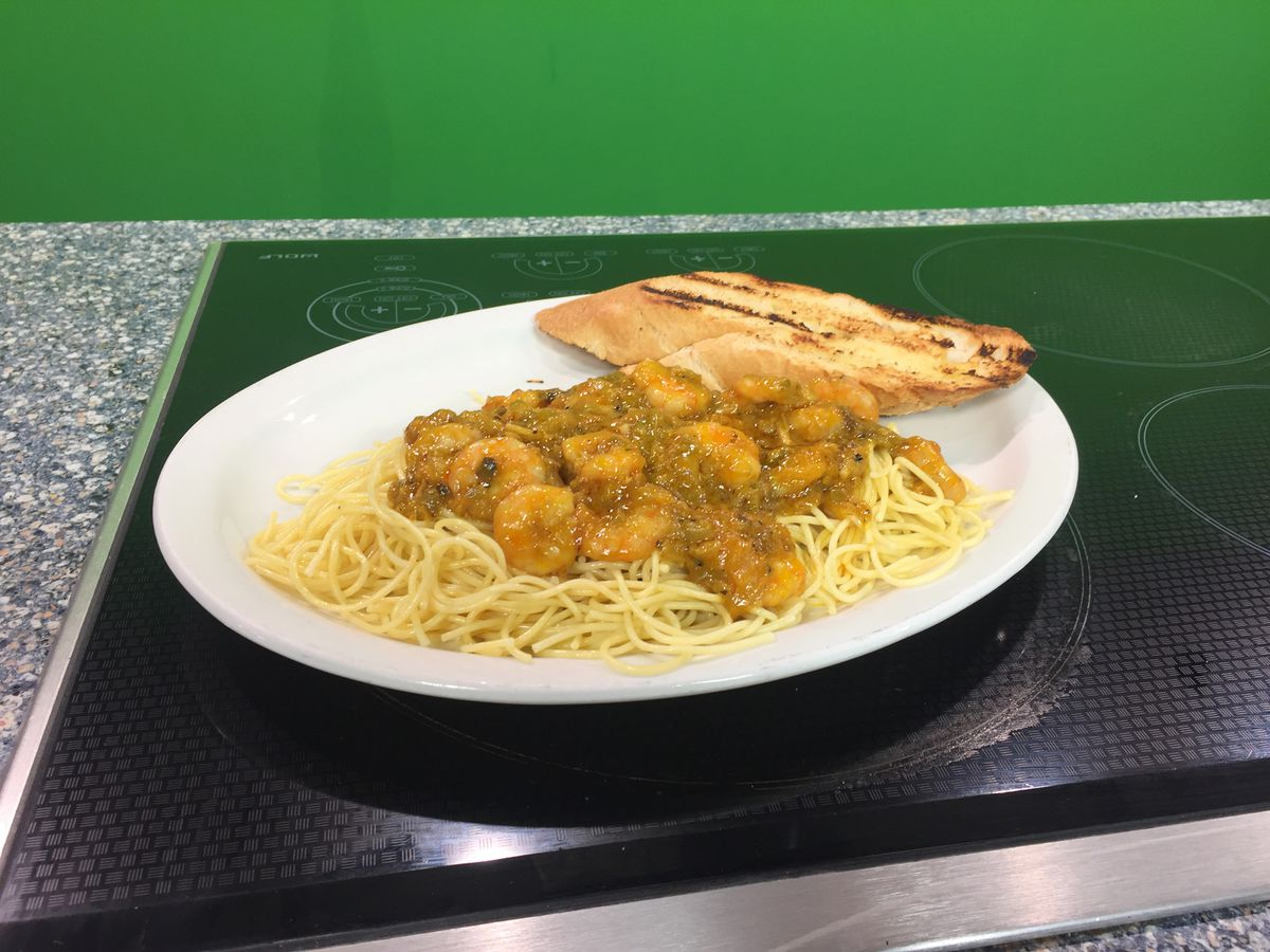 Shrimp Spaghetti by Dudley's Cajun Cafe