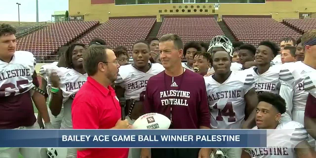 Red Zone Game Ball Palestine 10/18/19