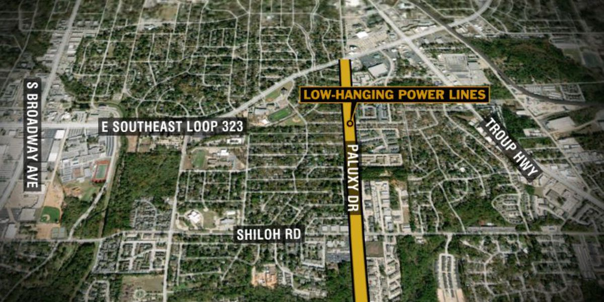 Paluxy Dr. open again following wreck that left low-hanging power lines