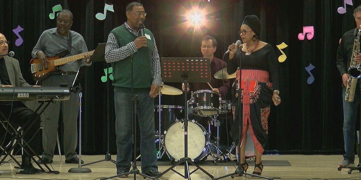 Douglass Elementary School's Black History Month celebration features lesson about jazz, Motown