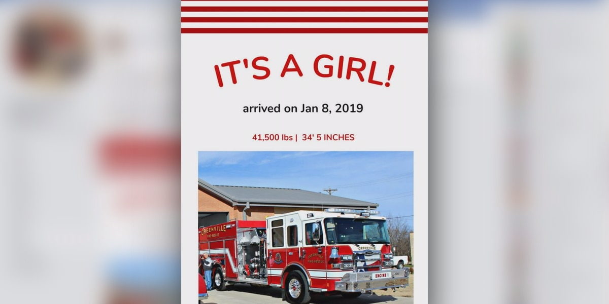 East Texas fire department posts clever 'birth announcement' for new truck