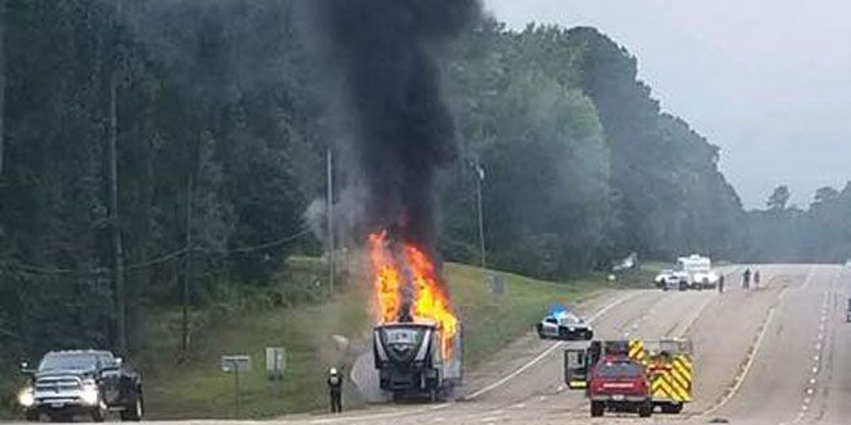 Marshall PD: W. Grand open again after RV trailer fire