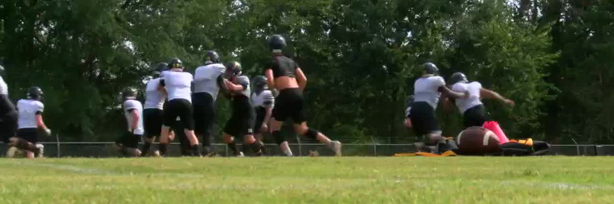WEBXTRA: Alto Yellowjackets return to practice field for first time since tornado damaged school