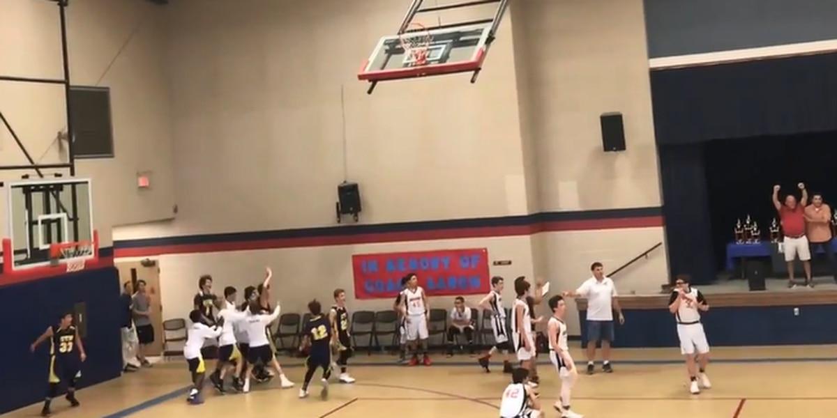 VIDEO: Eighth-grader sinks full-court shot at buzzer