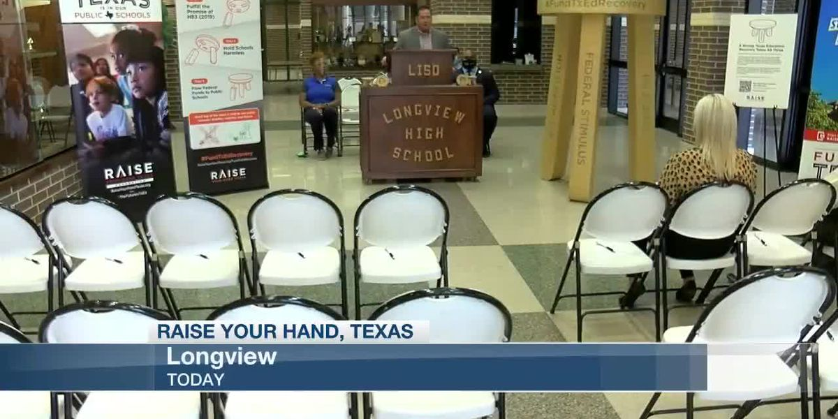 Non-profit organization dealing with education policy brings three-legged stool tour to Longview