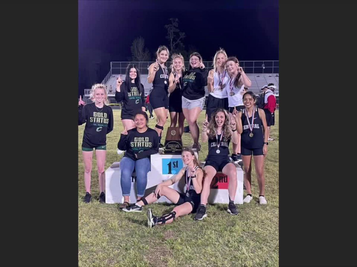 WEBXTRA: Historic win for Central ISD girls track team