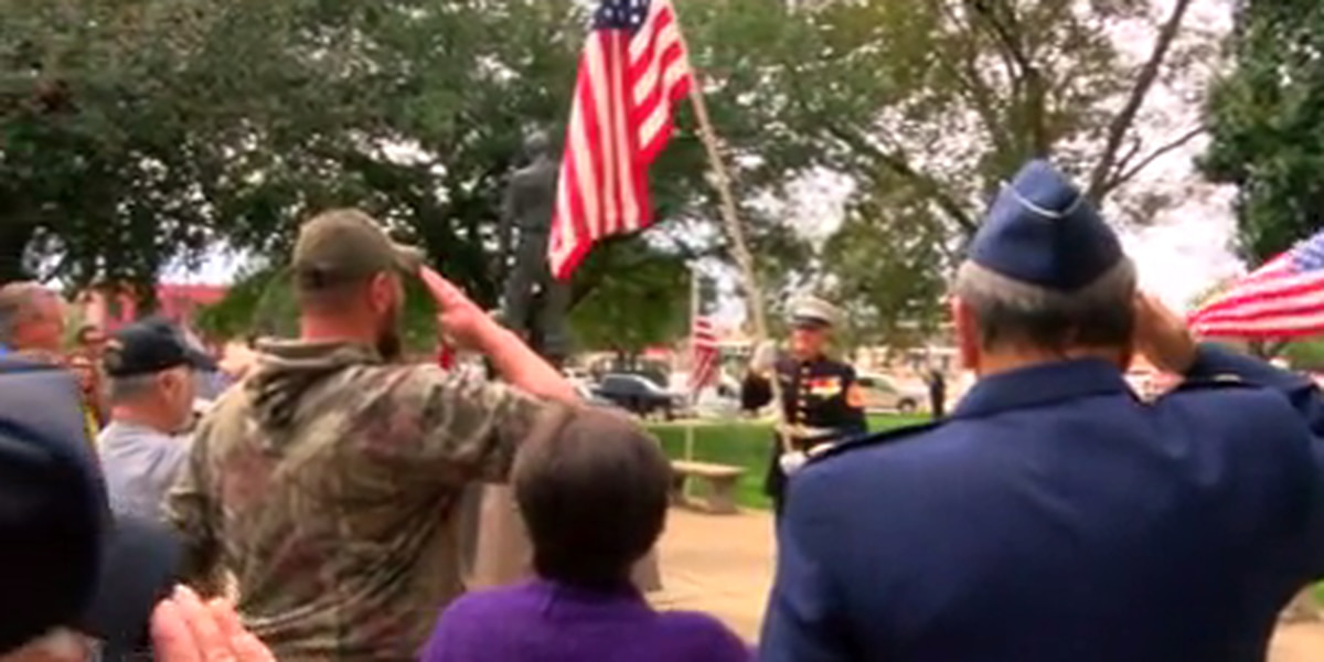 Veterans ceremony held without familiar marine