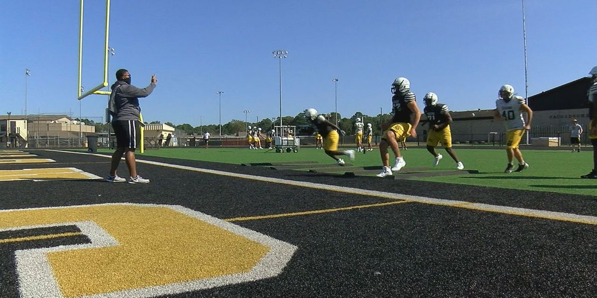 Nacogdoches football gets in one practice before their season opener