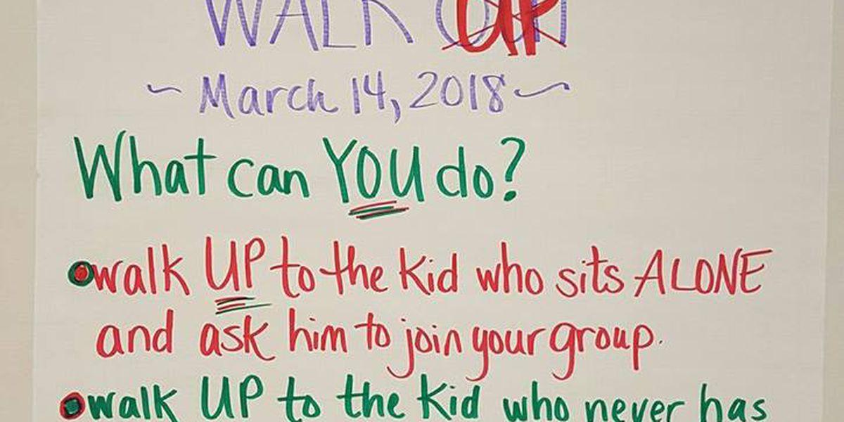 Virginia teacher's message of 'Walk up, Not out' goes viral