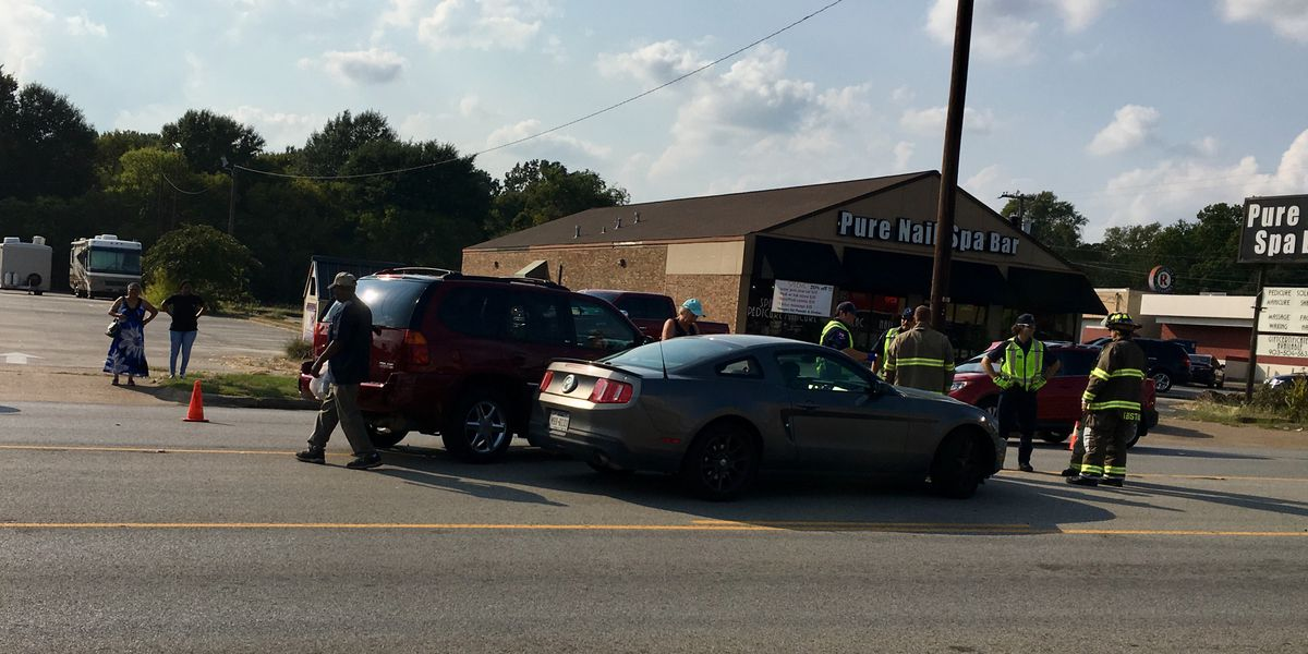 Crews on the scene of crash at Broadway and Amherst