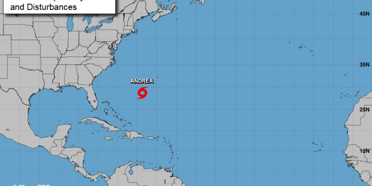 Andrea is 1st named storm of Atlantic season
