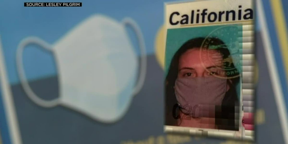 DMV mistakenly issues woman license with face mask photo