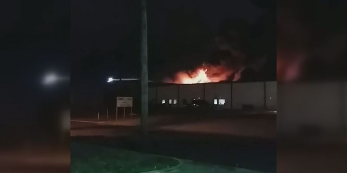 Athens manufacturing plant goes up in flames for second time in 2019