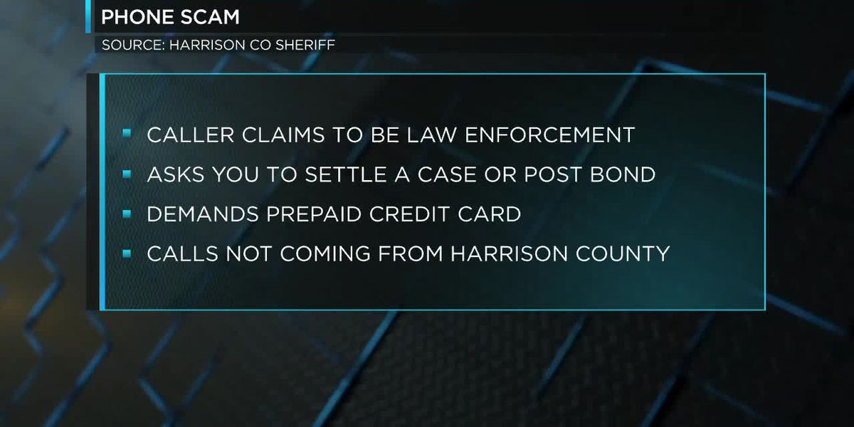 Harrison County Sheriff's Office warning citizens about fraudulent phone calls