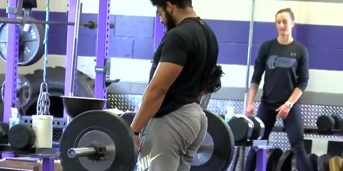SFA student athletes workout on campus for first time since COVID-19 shutdown