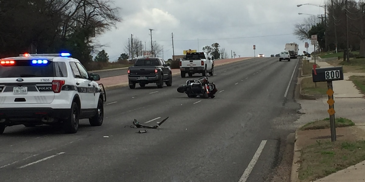 Police respond to wreck involving motorcycle in front of John Tyler High School