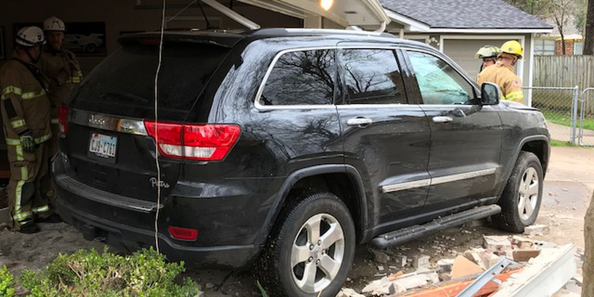 Car plows into home in Longview neighborhood