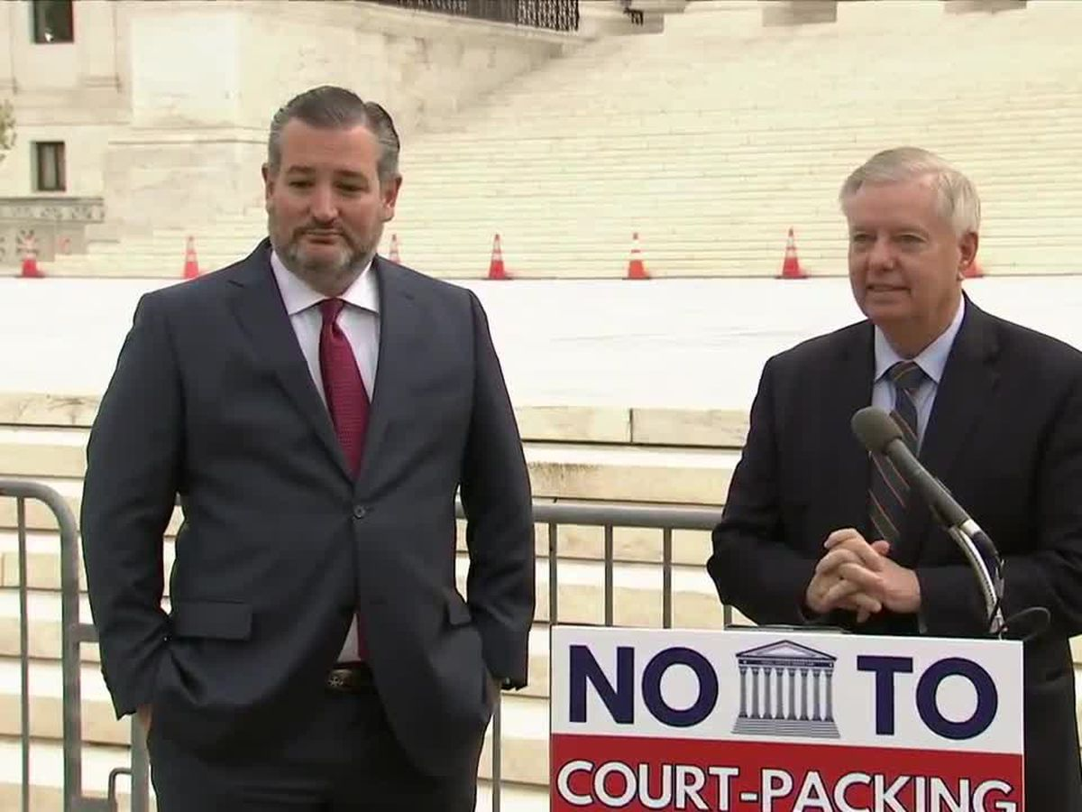Cruz and Graham hold a press briefing on their opposition to Supreme Court expansion