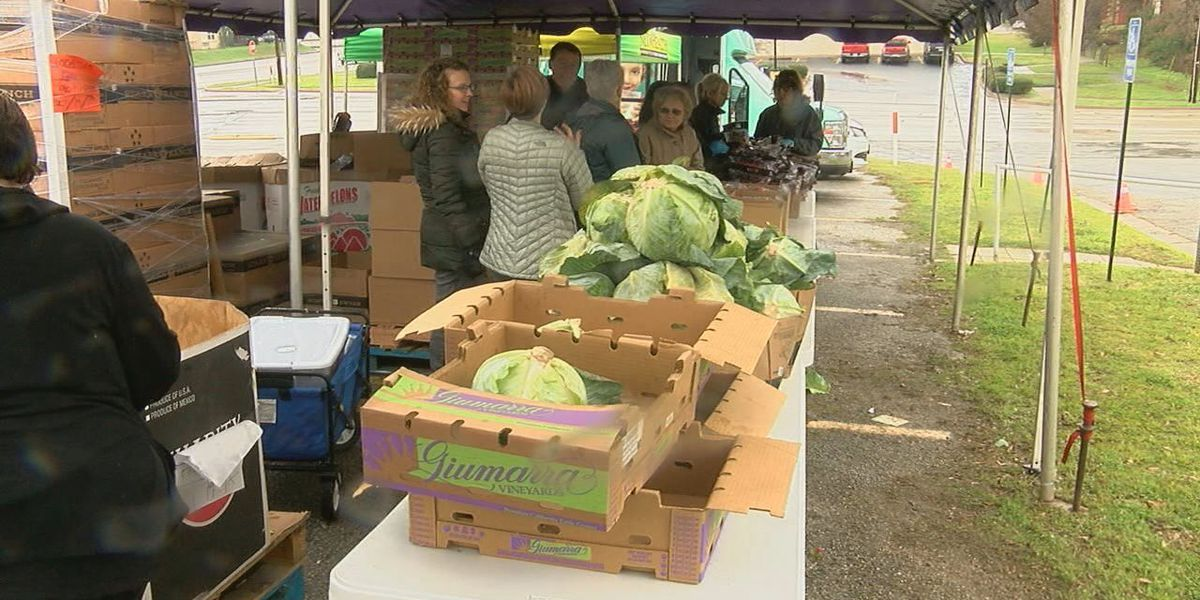 Free produce, community resource event underway in Tyler