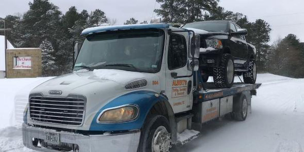 East Texas drivers getting creative dealing with snow accumulation