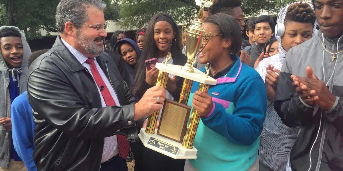 Longview High School wins 'Coats for Kids' challenge
