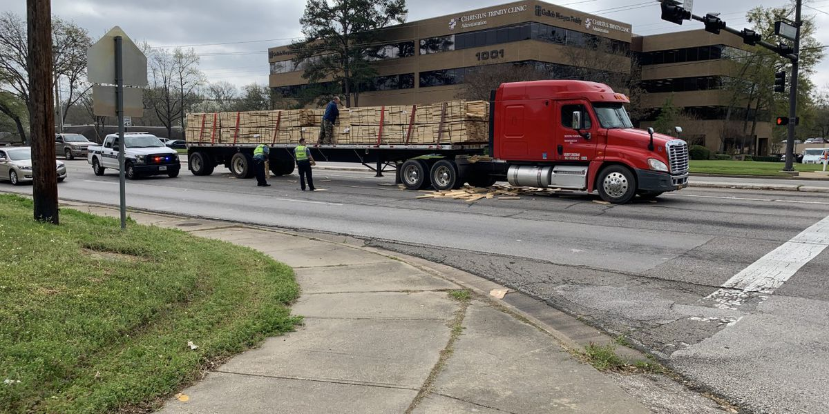 Loop 323 clear and open after 18-wheeler loses part of its cargo