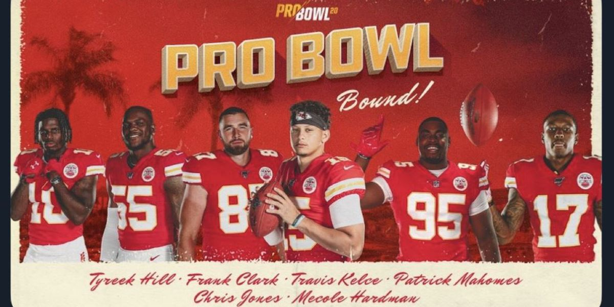 Patrick Mahomes selected for 2020 Pro Bowl