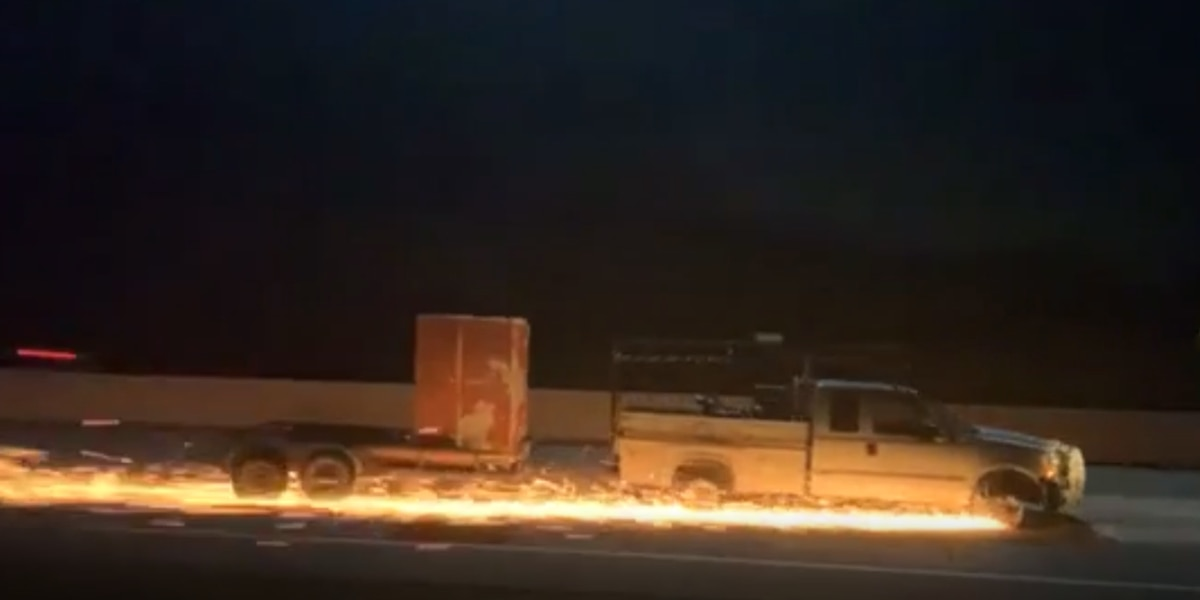 Sparks fly during police chase on I-20 from Kaufman County to Marshall