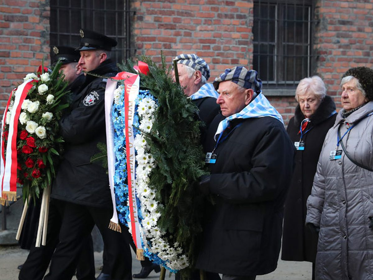 Auschwitz survivors warn of rising anti-Semitism 75 years after camp liberation