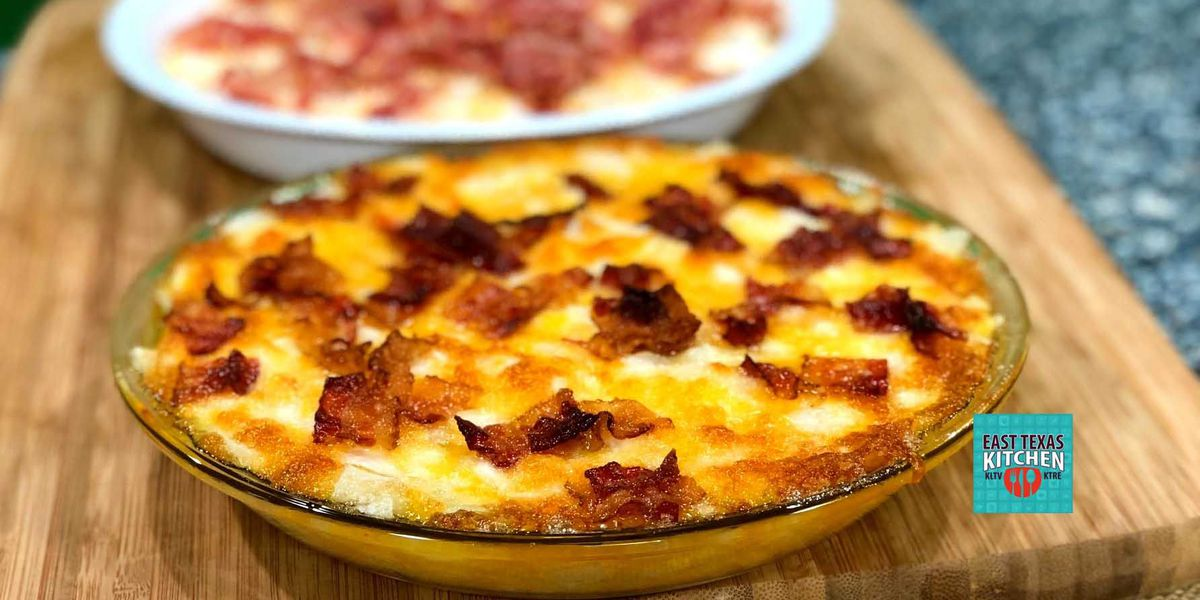 Baked Noonday onion dip with Cheddar and bacon by Mama Steph