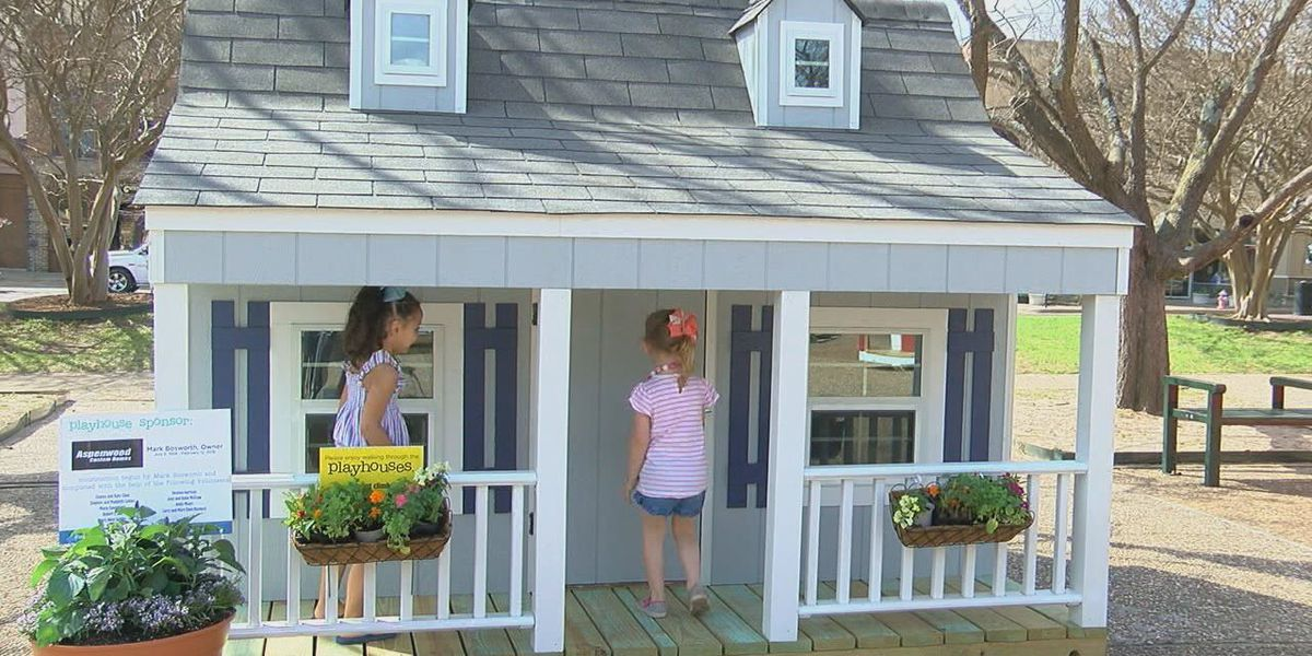 Volunteers finish playhouse after contractor's death, donate to crisis center