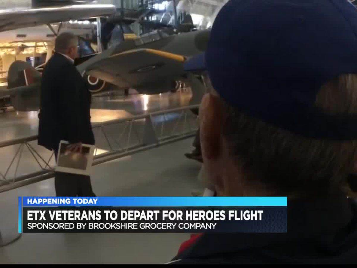 East Texas veterans fly to Washington, D.C. for Brookshire's Heroes Flight