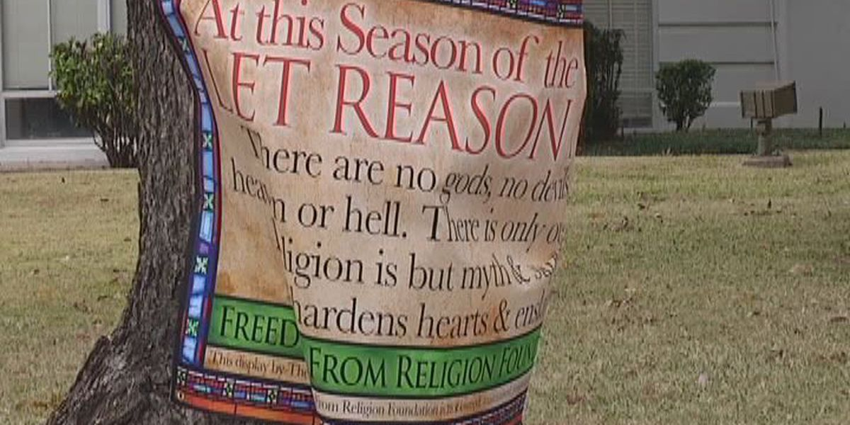 Holiday controversy: ETX county denies atheist banner