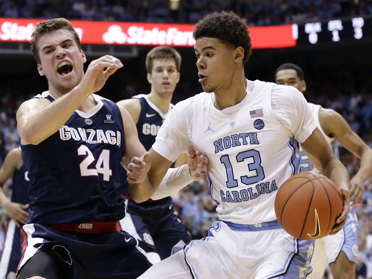 No. 12 North Carolina beats No. 4 Gonzaga 103-90