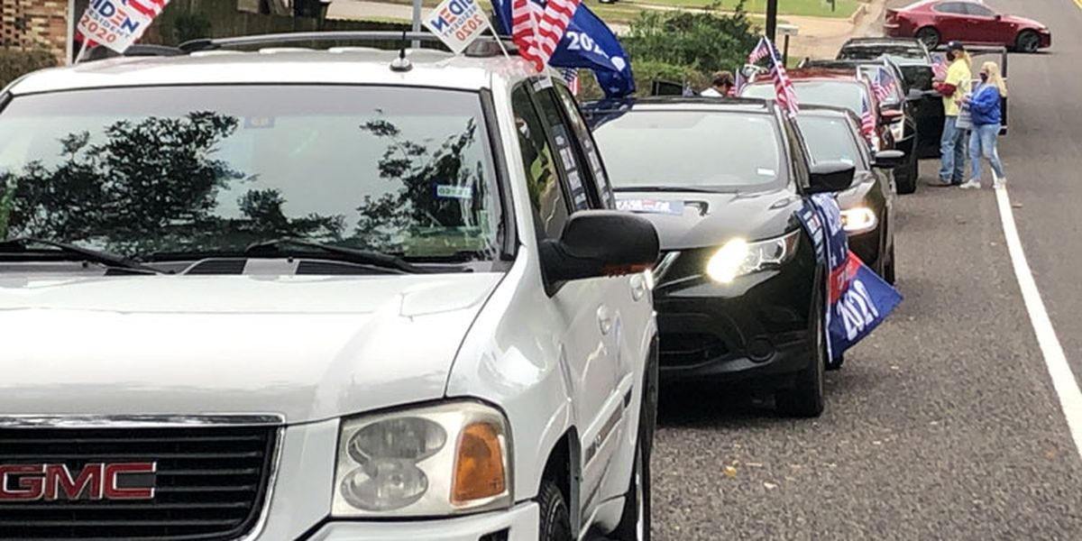 Tyler residents show support for Joe Biden, Kamala Harris with parade