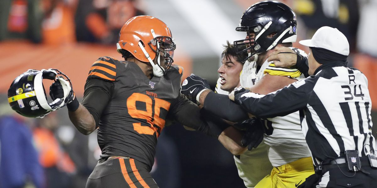 NFL: Cleveland Browns player suspended indefinitely for helmet attack on QB