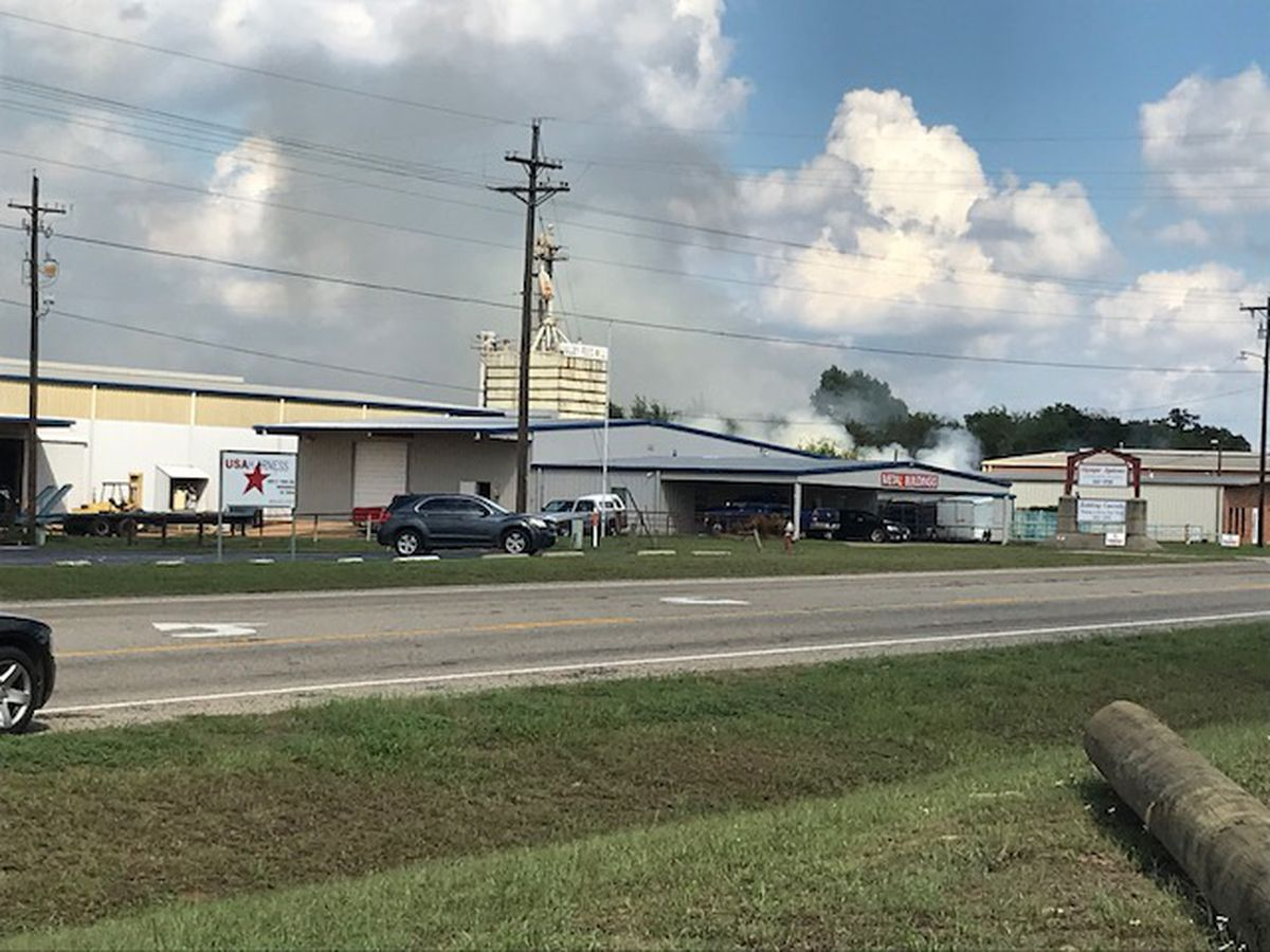 Officials evacuate area around fire at Winnsboro feed store