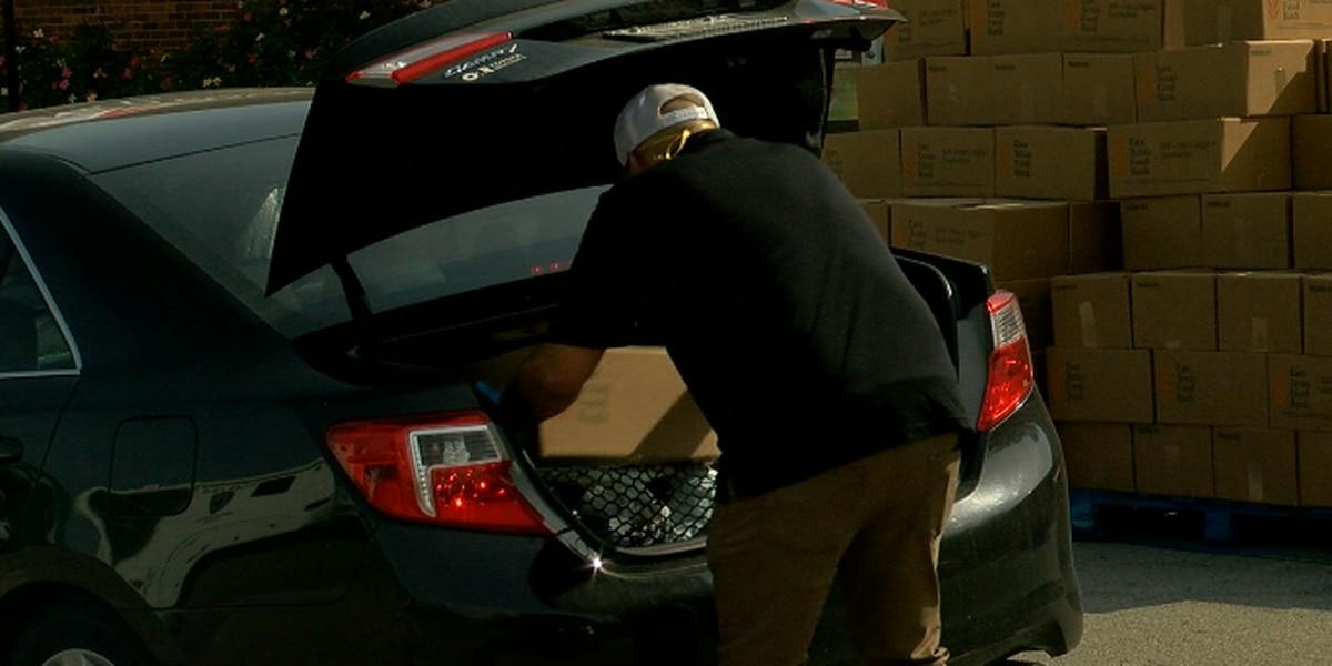 East Texas Food Bank distributing food boxes every Friday