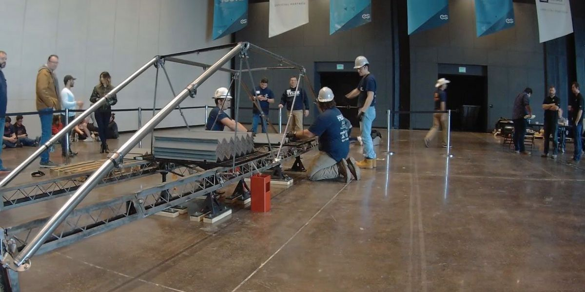 Students at UT Tyler's Houston Engineering Center qualify for national steel bridge competition