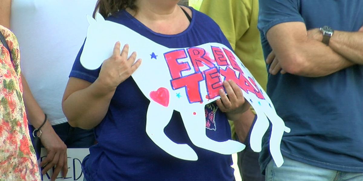 East Texas Freedom Coalition holds protest at Tyler City Hall