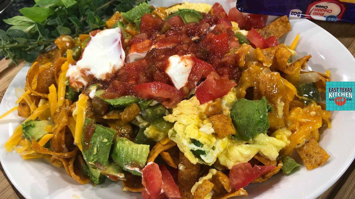 Spicy, cheesy migas by Chef David Wallace