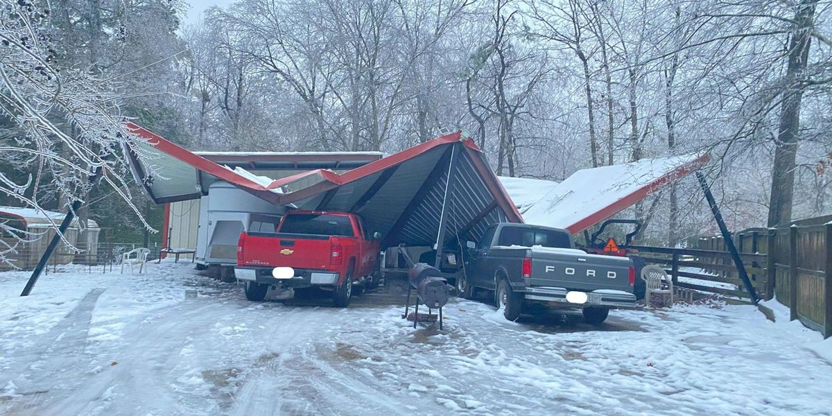 Ice, snow accumulations damage property in Angelina County