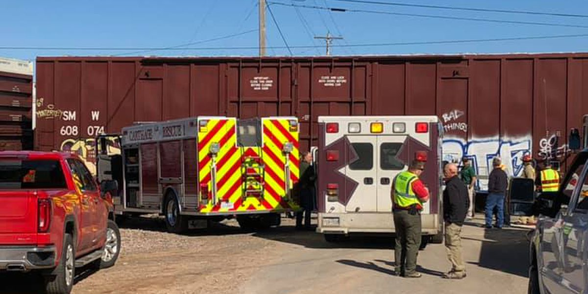 Driver airlifted to hospital after car collides with train in Carthage