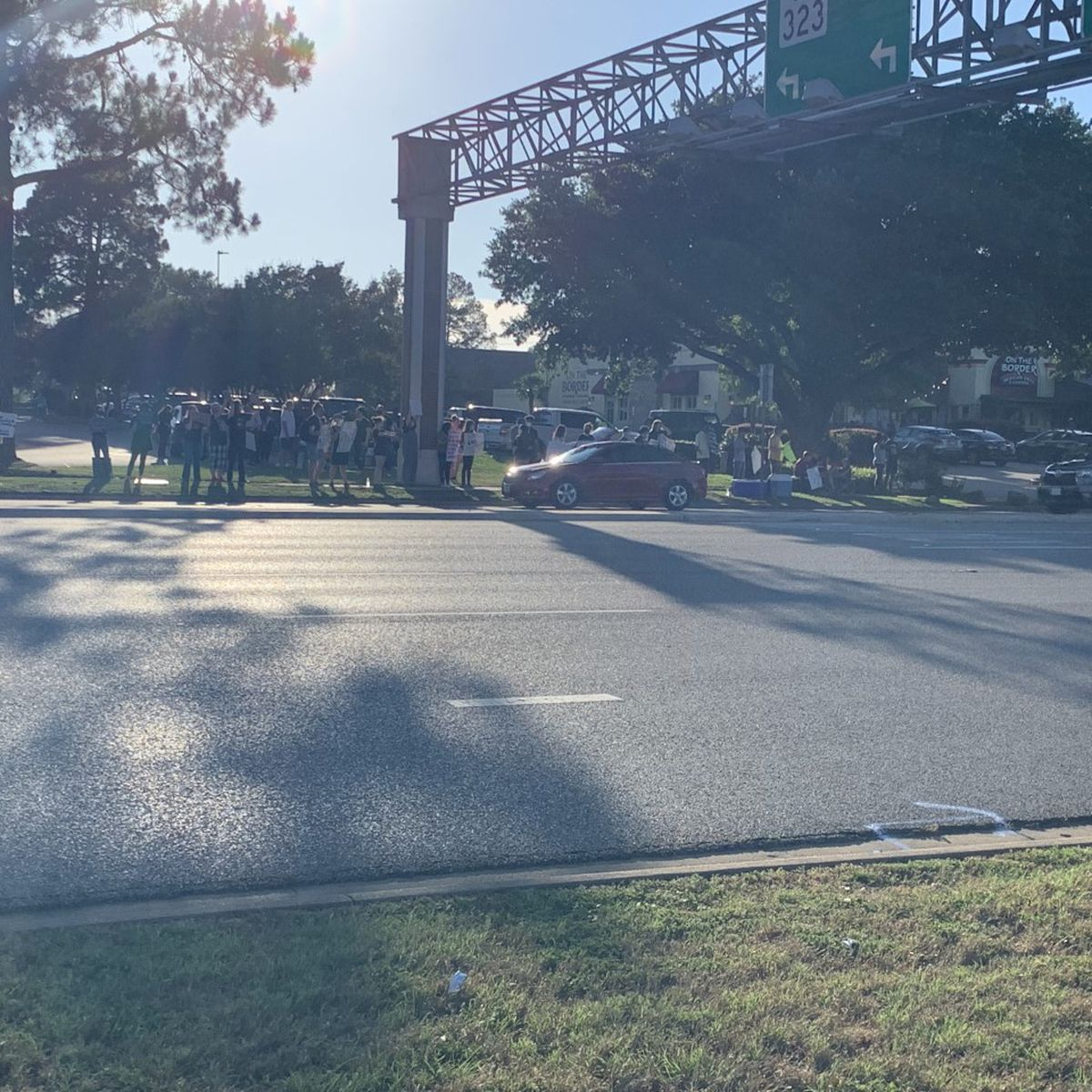 WEBXTRA: Protesters gather in Tyler for sixth day