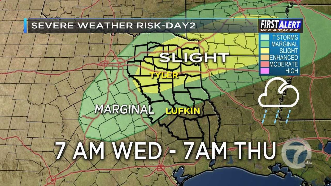 First Alert Weather Day for Wednesday, heavy rain, isolated