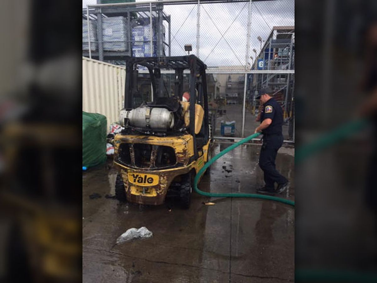 Gun Barrel City Fire: Propane tank explodes after forklift catches on fire at business