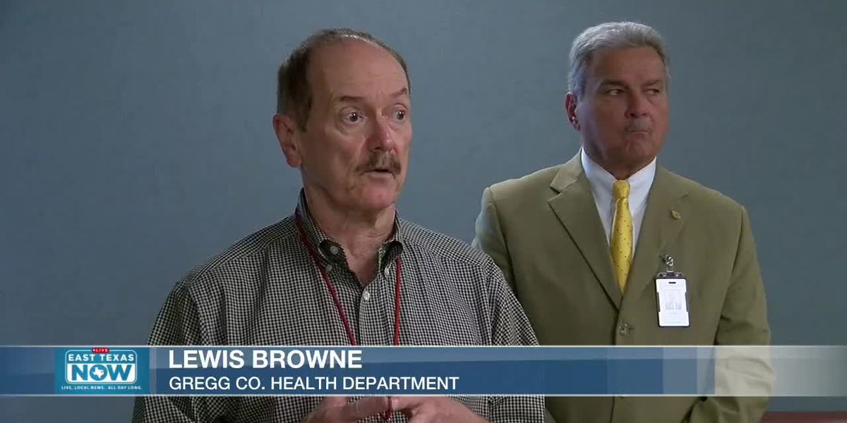 WATCH: Gregg County Judge Bill Stoudt and Lewis Browne with the health department