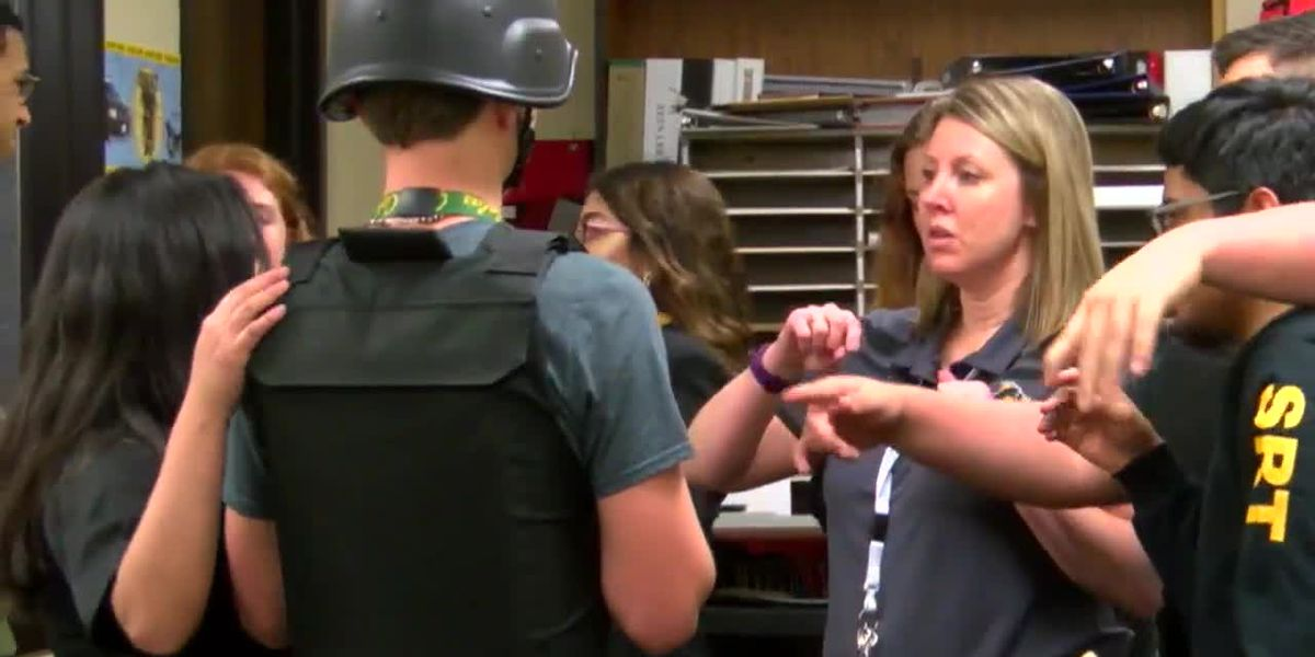 Nacogdoches High School students showcase police training which earned state recognition