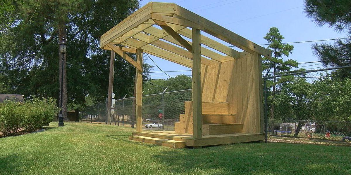 Construction underway on bee observatory at Tyler Rose Garden